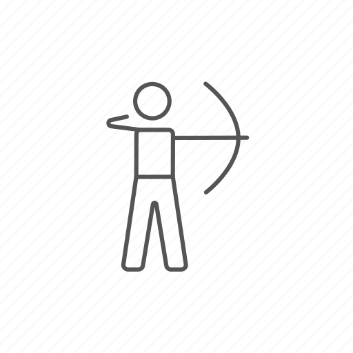 archer, archery, athletic, bow, target, training icon