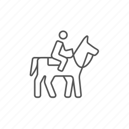 horse, horseback, jockey, outdoor, racing, riding icon