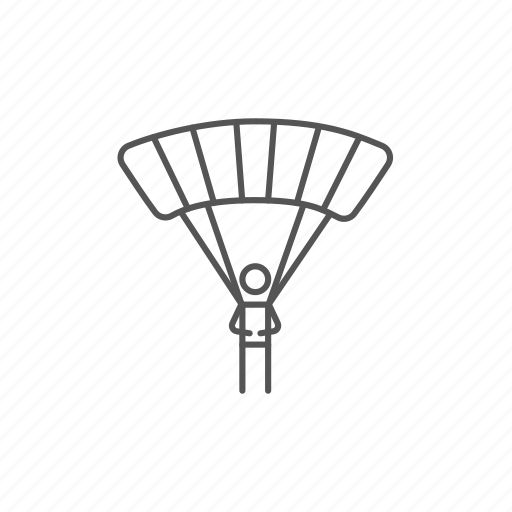 air, airplay, jump, parachuting, sky, skydiving, sportsman icon