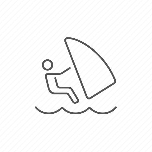 board, extreme, ocean, sport, surfing, wave, wind icon