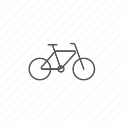 bicycle, exercise, fitness, lifestyle, motion, sport, training icon