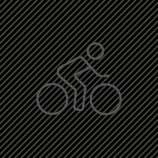 bike, biker, cyclist, healthcare, man, riding, speed icon