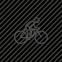 bike, exercise, healthcare, man, race, riding, speed icon