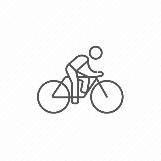 bike, exercise, healthcare, man, race, riding, speed icon