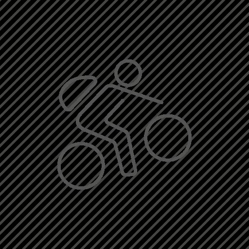 bike, lifestyle, man, mountain, outdoor, race, riding icon