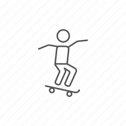 extreme, jump, man, riding, skateboard, skatepark, trick icon