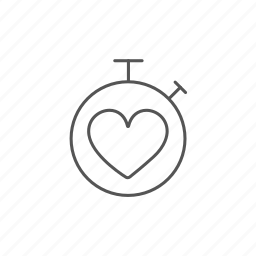 cardio, heart, measure, precision, pulse, stopwatch icon