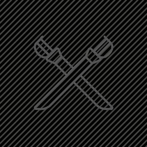 blade, crossed, fencing, guard, saber, sword icon