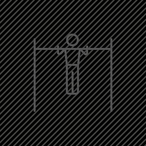 acrobat, bar, exercising, gymnast, gymnastics, strength, workout icon