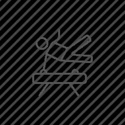 exercising, gymnast, gymnastic, horse, pommel, workout icon