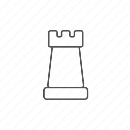 chess, rook, strategy, tactics, thinking, tower icon