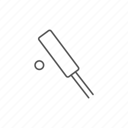 baseball, competition, cricket, game, outactivity, outdoor, stick icon
