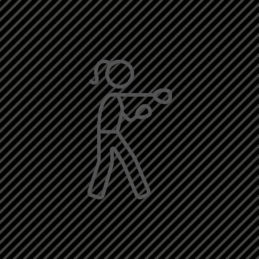 boxer, female, gym, hook, kick, ring, strike icon