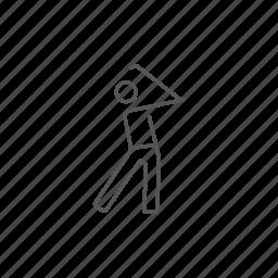 club, golfer, playing, precision, professional, shot, stick icon