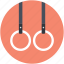 flying rings, gymnastic rings, rings crossfit, steady rings, still rings icon