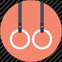 flying rings, gymnastic rings, rings crossfit, steady rings, still rings icon