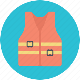 cork jacket, life jacket, life vest, safety jacket icon