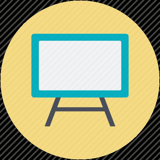 blackboard, chalkboard, easel, presentation, whiteboard icon