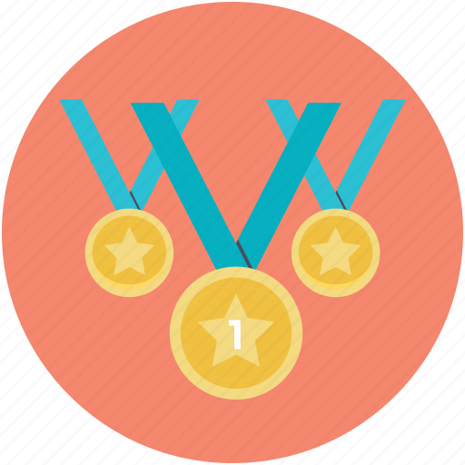 achievement, medals, position medals, prize, reward icon