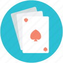 casino, gambling, playing card, poker card, spade card