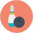 alley pins, bowling ball, bowling game, bowling pins, hitting pins icon