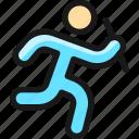 athletics, team, running