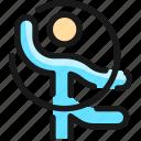 gymnastics, ribbon, person