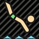 swimming, diving