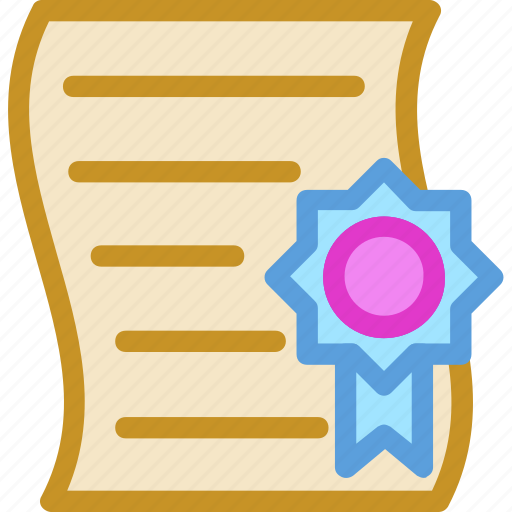 achievement, award, certificate, deed, diploma icon