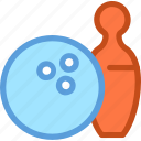 bowling ball, bowling game, game, play, skittles icon