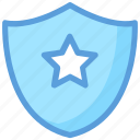 achievement, defense, medal, security element, shield star icon