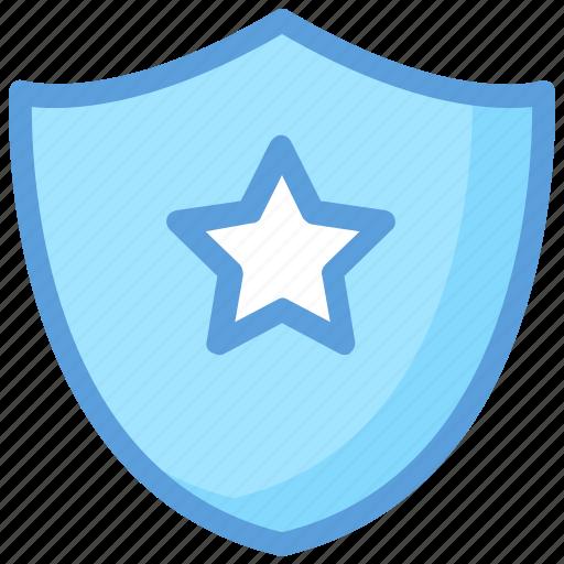 achievement, defense, medal, security element, shield star icon