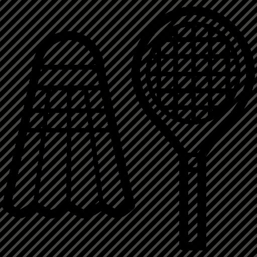 badminton, game, olympic, racket, shuttlecock, sport icon