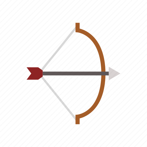 bow with arrow, equipment, game, match, play, sport icon