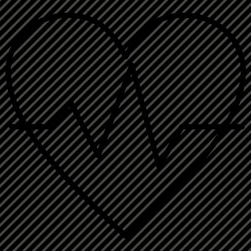 beat, ecg, heart, heartbeat icon