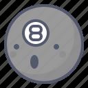 activity, ball, billiards, club, outdoor icon