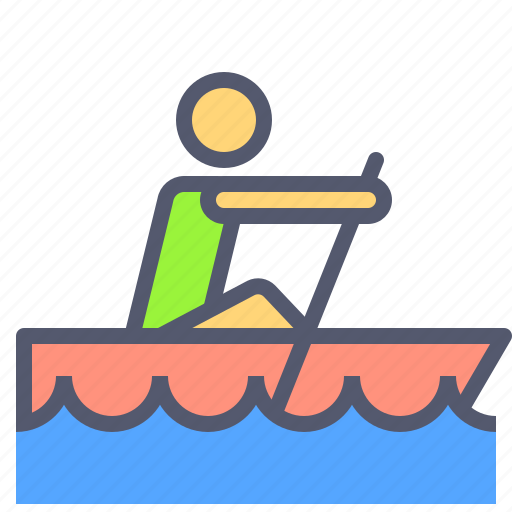 activity, boat, movement, outdoor, sea, speed icon