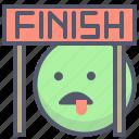 activity, contest, finish, outdoor, race, winner icon