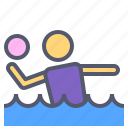 activity, outdoor, polo, pool, water icon