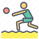 activity, beach, indoor, outdoor, volley icon