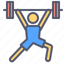 activity, fitness, lift, weight icon