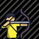 bow, archer, arrow, archery, sport