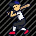 ball, baseball, batter, sport icon