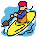 boat, canoe, extreme, river, sport icon