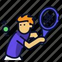 backhand, ball, sport, tennis icon