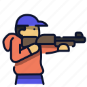 shooter, shooting, shot, shotgun, sport icon
