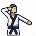 athlete, karate, kung fu, martial art, sport icon