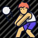 athlete, ball, beach, sport, volley icon