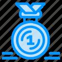 award, first, medal, reward, ribbon icon
