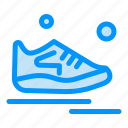 exercise, man, running, shoes, sport icon